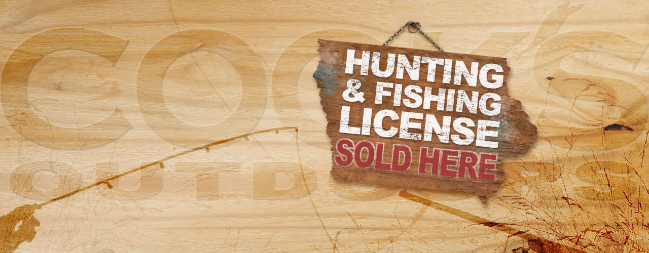 Hunting & fishing license sold here